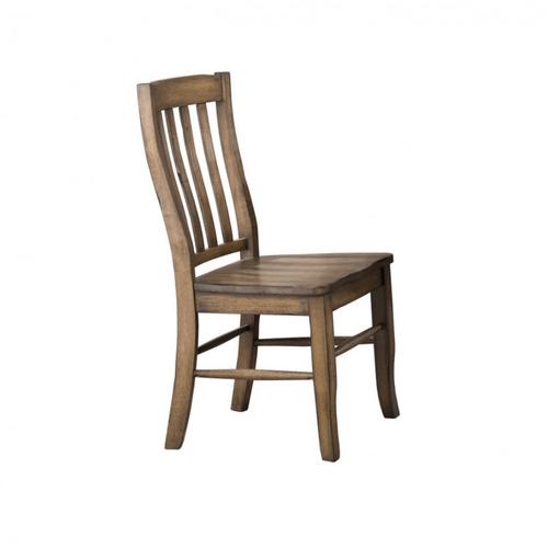 Winners Only - Rake Back Wood Side Chair