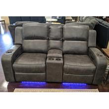 View Product - Charcoal Grey Power Head Rest Loveseat