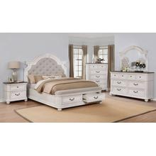 Avalon Southern Estates King Bedroom Set: King Bed, Nightstand, Dresser & Mirror