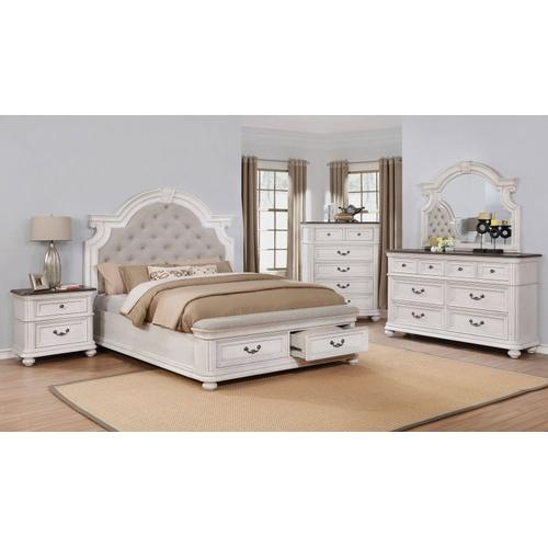 Avalon - Avalon Southern Estates Queen Bedroom Set: Includes Queen Bed, Nightstand, Dresser & Mirror