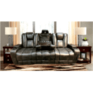 Power Reclining Sofa with Drop Down Table Product Image
