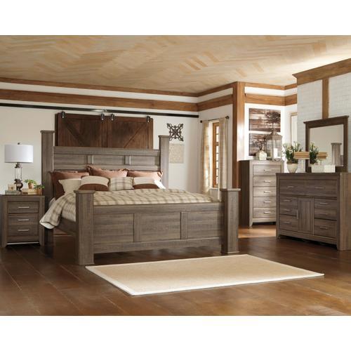 Juararo - Queen Poster Bed, Dresser, Mirror, & 1 X Nightstand