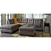 See Details - Benchcraft LAF Chaise Sectional - Gray