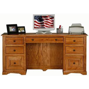 """Oak 32"""" Double Pedestal Desk"""