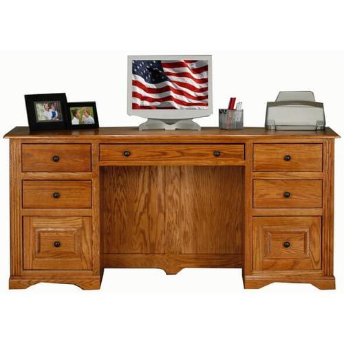 "American Heartland Manufacturing - Oak 32"" Double Pedestal Desk"