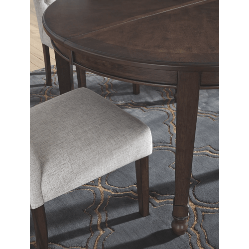 Adinton - Reddish Brown - 7 Pc. - Oval Extension Table & 6 Upholstered Side Chairs