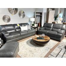 View Product - Stallion Dark Grey Leather Sofa & Loveseat