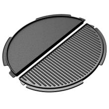 See Details - Half Moon Cast Iron Dual Side Plancha Griddle