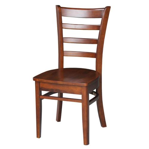 Emily Espresso Wood Dining Chair