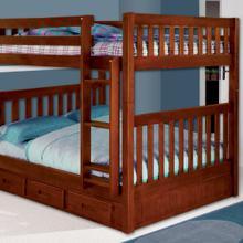 See Details - Merlot Full over Full Bunk Bed