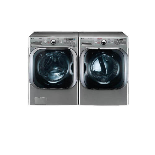 LG 5.2 CF Front Load Washer, Steam, TurboWash With 9.0 CF Electric Dryer, Truesteam in Graphite