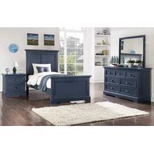 Tamarack Blue Twin Panel Bed