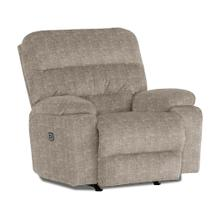 RYSON Power Recliner with Power Tilt Headrest in Mocha Fabric