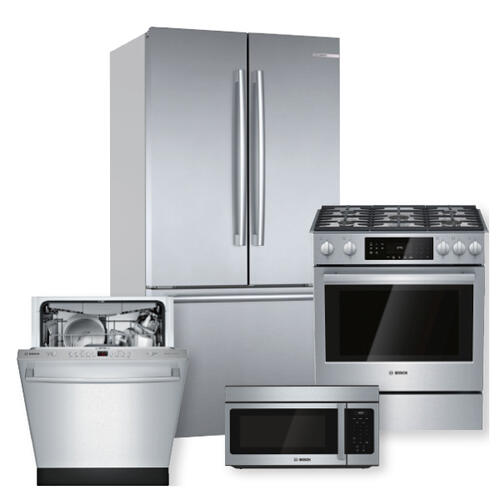 BOSCH Stainless Steel French Door Refrigerator Package