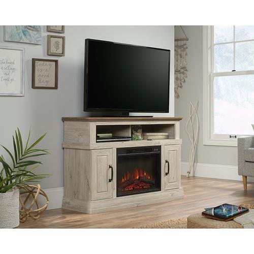 Entertainment Fireplace Credenza with Doors
