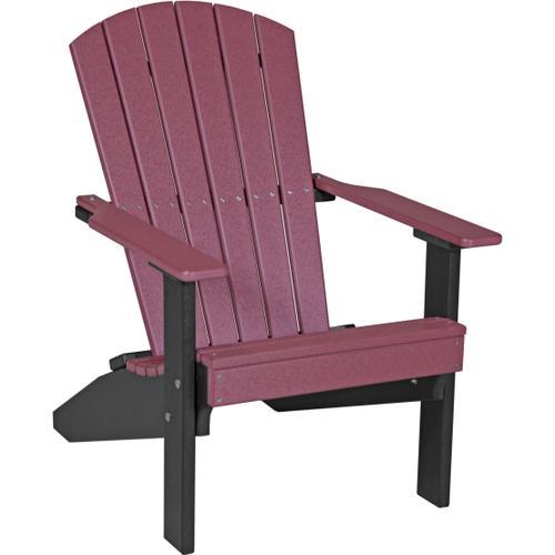 Lakeside Adirondack Chair Cherry and Black