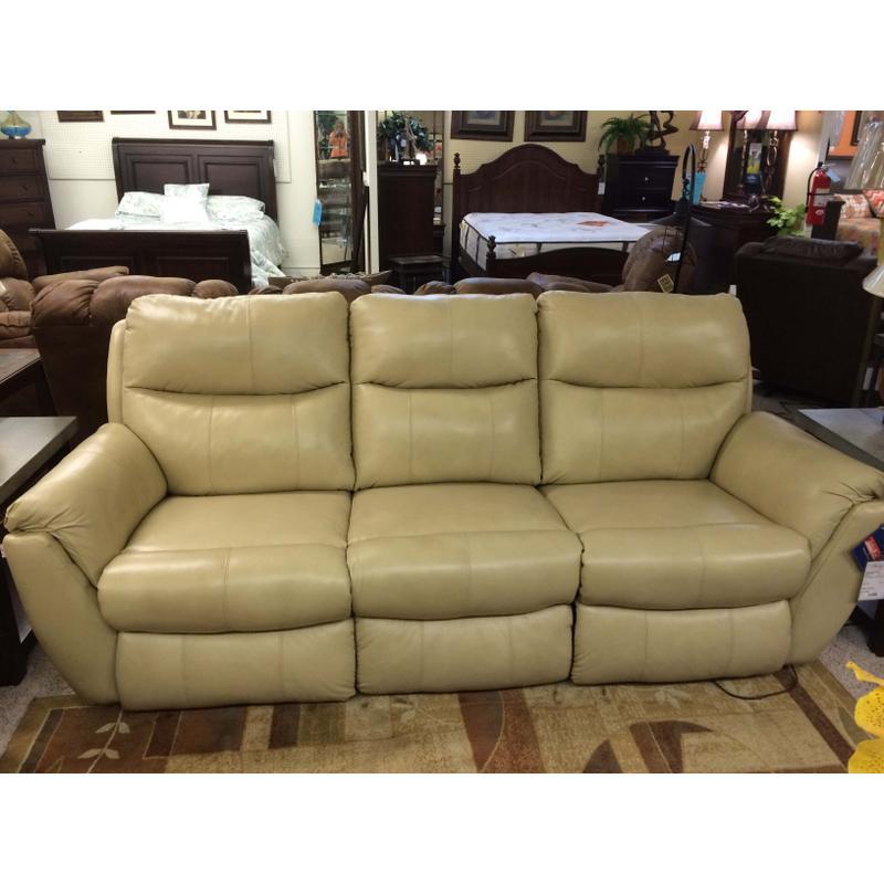 Rocking Reclining Leather Sofa