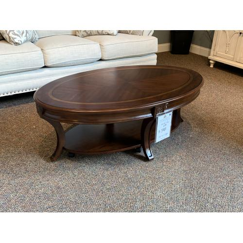 Winslet Wood Oval Coffee Table
