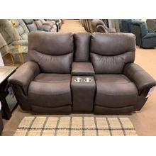 Stanton 936-85B Pwr rec. Loveseat with adjustable headrest and lumbar