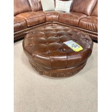 See Details - Durango Chestnut Leather Ottoman