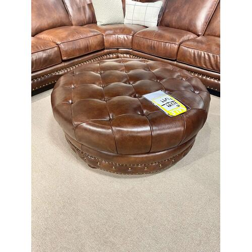 Futura - Durango Chestnut Leather Ottoman