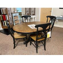 See Details - BLACK DINETTE WITH 4 CHAIRS