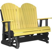 Adirondack Glider 4' Yellow and Black