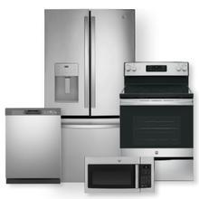 See Details - 25.6 Cu. Ft. Fingerprint Resistant French-Door Refrigerator & Free-Standing Electric Range Package