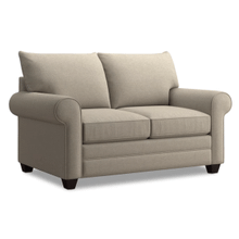 Alex Roll Arm Loveseat - Straw