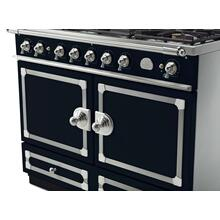 CornuFe 110 Dual Fuel Range -  Dark Navy Blue with Stainless Steel and Polished Chrome Trim