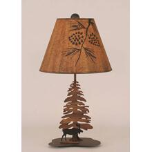 Iron Moose with Pine Tree Accent Lamp