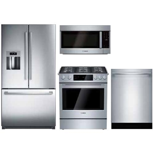 Packages - BOSCH 4-PIECE KITCHEN PACKAGE WITH GAS SLIDE-IN RANGE