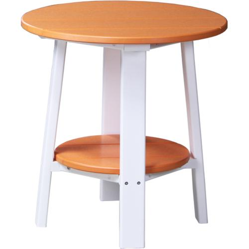 Deluxe End Table Tangerine and White
