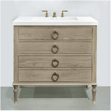 """Product Image - Hayden 36"""" vanity with drawers in cerused flat cut oak"""