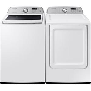 Packages - 4.5 CF Top Load Washer, Active Waterjet - White; 7.4 CF Electric Dryer, Sensor Dry - White