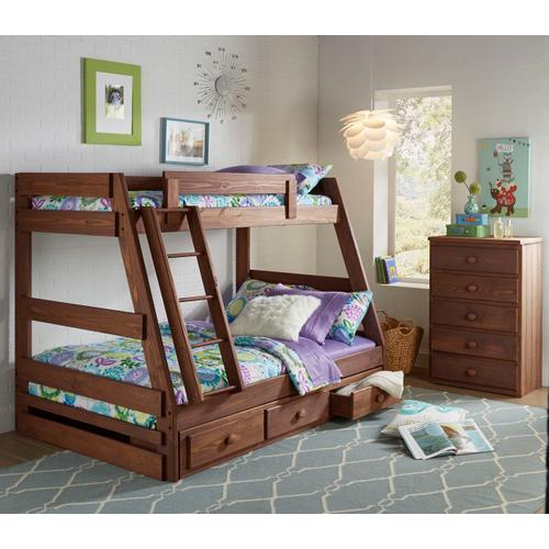 Chestnut Twin over Full Bunk Bed