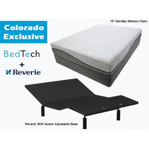 BEDTECH Tranquility Queen Mattress & REVERIE Adjustable Base   **Colorado Exclusive**