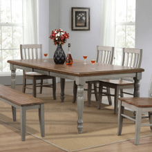 6 Piece Set (Leg Table, 4 Chairs and Bench)