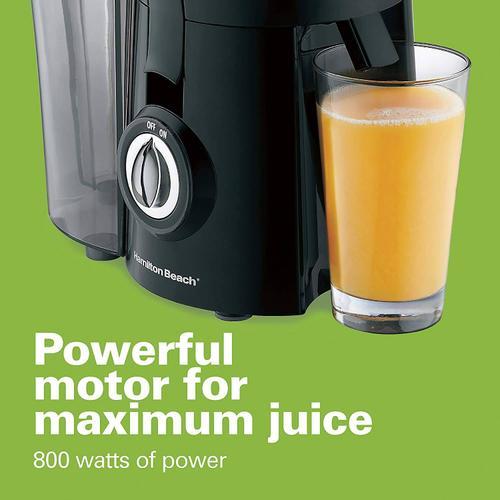 Hamiltonbeach - Hamilton Beach Juicer Machine, Big Mouth 3 Feed Chute, Centrifugal, Easy to Clean, BPA Free, 800W, (67601A), Black