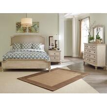 Demarlos - King Upholstered Bedroom Set - Parchment White