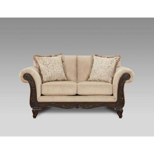 8553-EMMW  Sofa and Loveseat - Emma Wheat