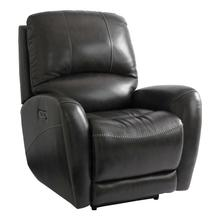 Bassett Wilson Leather Power Recliner with Power Tilt Headrest