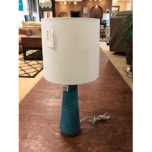 Product Image - Turquoise Ribbed Table Lamp