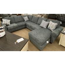 Wood House Merrick Sectional - Merrick Slate/Handwoven Slat