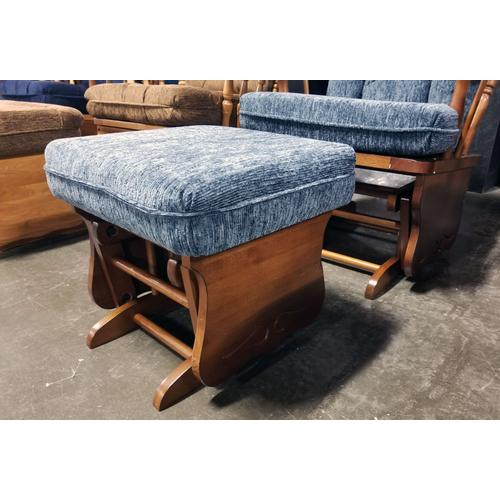 Knox Glider and Ottoman in Distressed Pecan/Denim