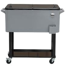 Gray Cooler Cart w/ Tray
