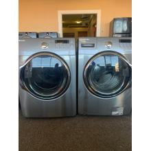 Samsung Grey Front Load Washer Dryer Set Please call store if you would like additional pictures. This set carries our 6 month warranty, MANUFACTURER WARRANTY AND REBATES ARE NOT VALID (Sold only as a set)