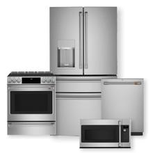 "CAFE 27.8 Cu. Ft. Smart 4-Door French-Door Refrigerator & 30"" Smart Slide-In  Induction and Convection Range Package"