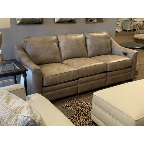 Leather Sofa with Power Recliner