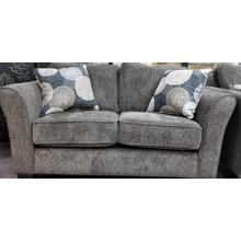 See Details - Loveseat in Brinkley Tobacco with pillows in Chrysanthemum